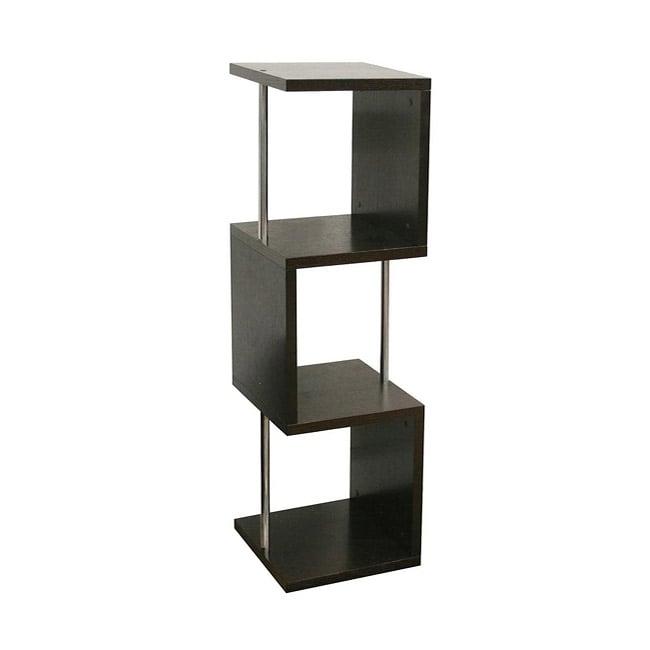 Cornelia Dark Brown Wood Modern Tall Display Shelf