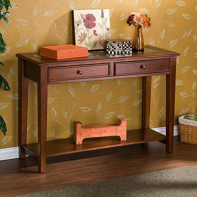 Quincy Walnut Sofa Display Table Free Shipping Today