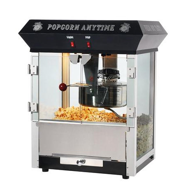 Popcorn Time 6094 Black 6-oz Antique Popcorn Machine