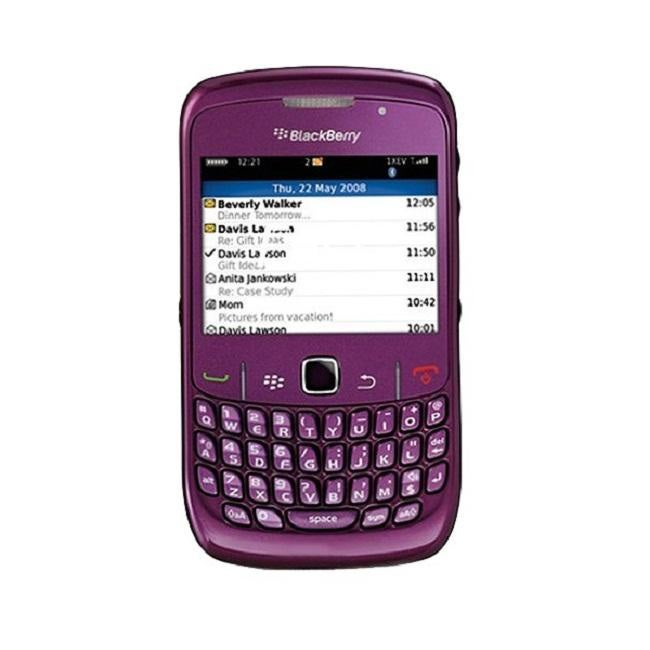 BlackBerry Curve 8520 Unlocked GSM Purple Cell Phone - Thumbnail 0