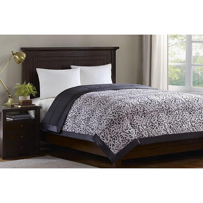Softspun Leopard Print King-size Down Alternative Blanket
