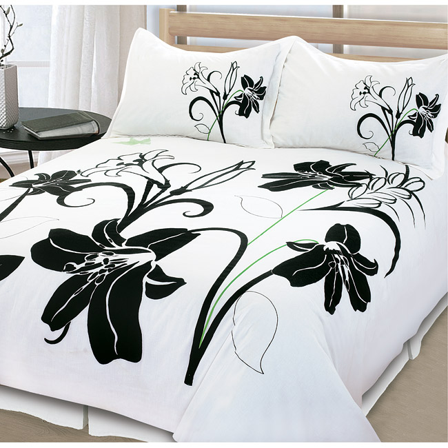 Shadow Lily 3-piece King-size Duvet Cover Set