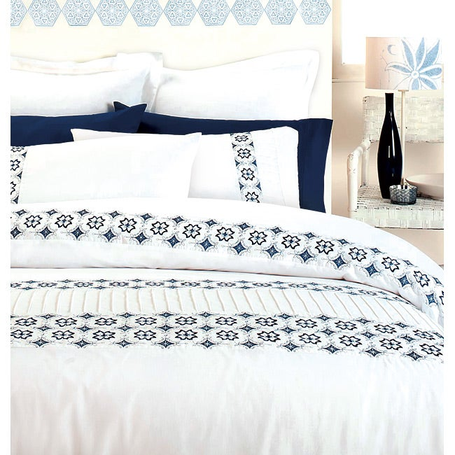 Shop Istanbul Blue 3 Piece Queen Size Duvet Cover Set Free