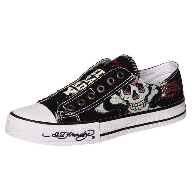 Ed Hardy Women S Classic Lowrise Canvas Sneakers Free