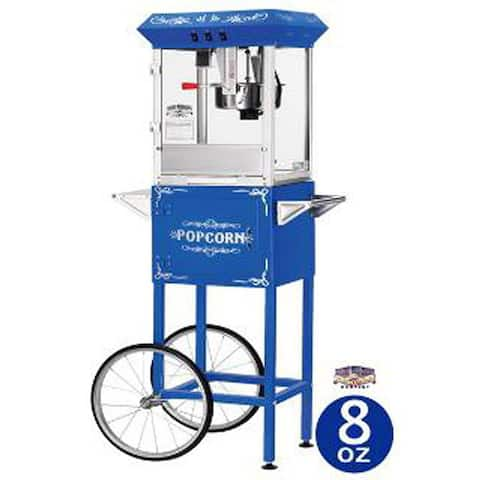 Blue 6098 8-oz Foundation Popcorn Machine and Cart