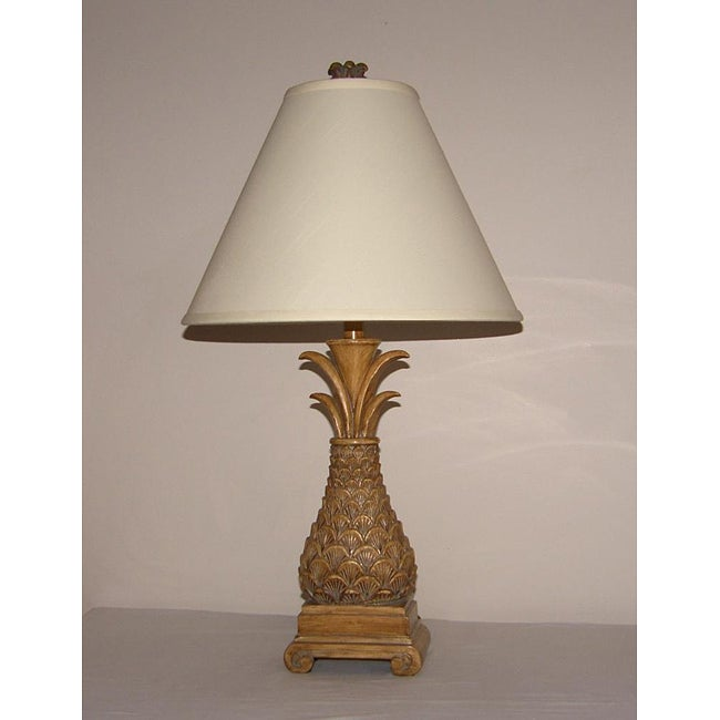 Oval Pineapple 1-light Table Lamp