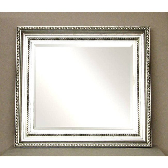 Painted brushed nickel wall mirror free shipping today Bathroom wall mirrors brushed nickel