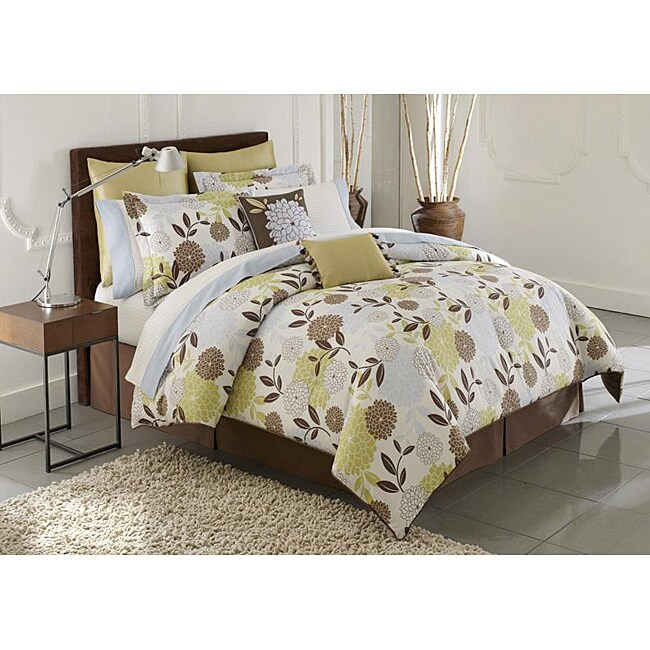 Chrysanthemum 3-piece Queen-size Comforter Set
