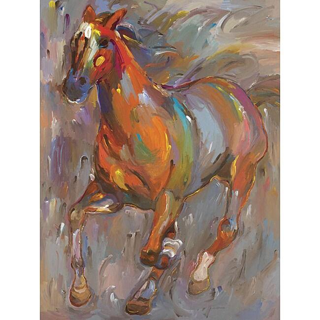 Hooshang Khorasani 'Stellar Steed' Gallery-wrapped Canvas Art