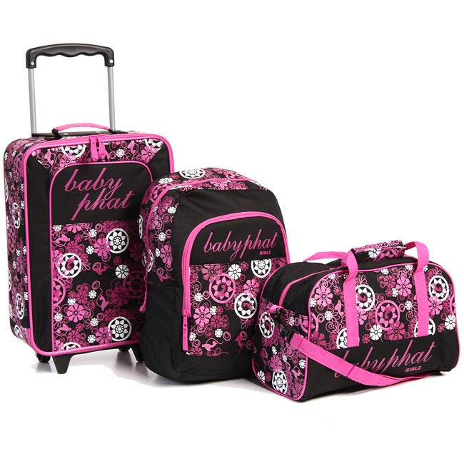 Baby Phat Pink Floral 3 Piece Children S Luggage Set