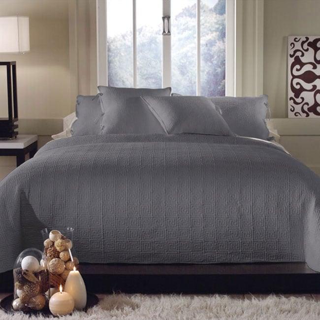 Clarke Cloudburst King-size 3-piece Quilt Set