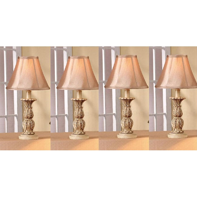 Audrey 21-inch Antique White Table Lamps (Set of 4)