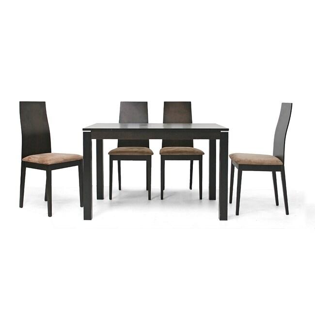 Lambert 5-piece Dark Brown Dining Furniture Set