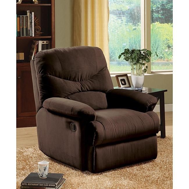 Plush Chocolate Microfiber Recliner Chair  sc 1 st  Overstock.com & Plush Chocolate Microfiber Recliner Chair - Free Shipping Today ... islam-shia.org