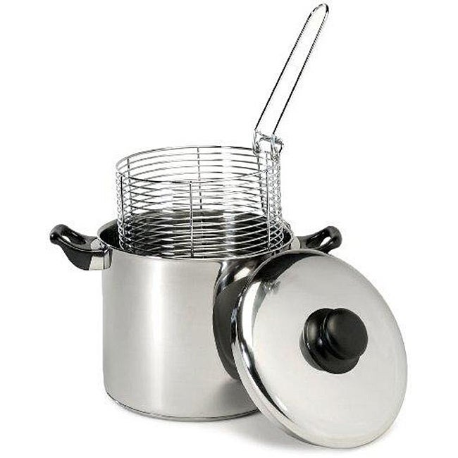 Stainless Steel 6-qt Capsule Base Stove Top Deep Fryer