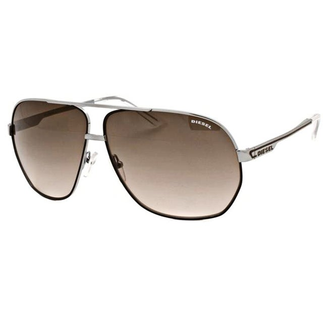 b4a89fdffb Shop Diesel Men s Aviator Sunglasses - Free Shipping Today - Overstock -  5635914