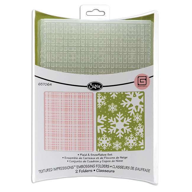 Sizzix Plaid and Snowflakes Embossing Folders (Pack of 2)