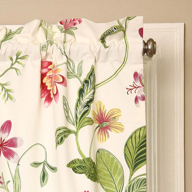 Croscill Hibiscus 84-inch Curtain Panel Pair - Thumbnail 0