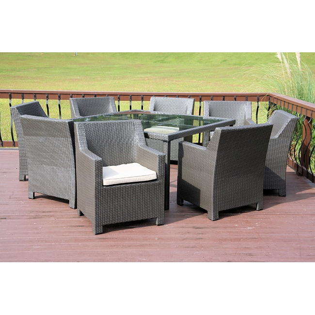 Durdan Outdoor Classics Durdan All Weather Wicker 9-piece Dining Set