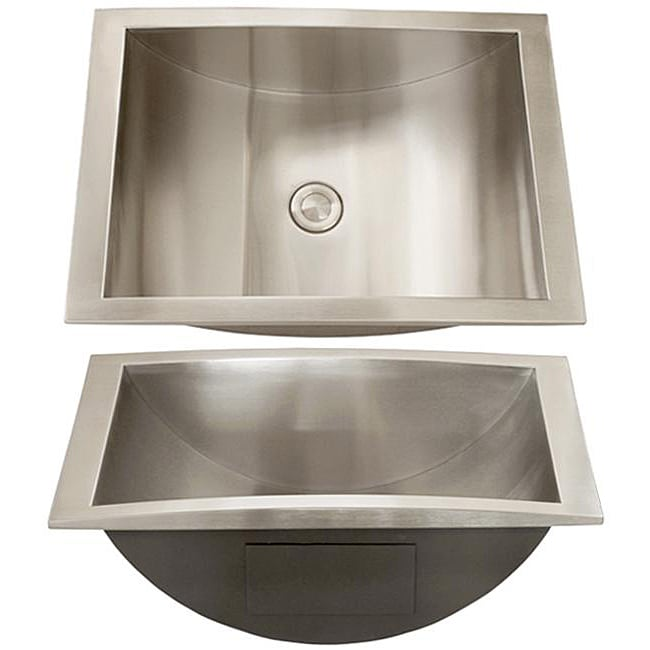 Ticor Stainless Steel 18 Gauge Overmount Bathroom Sink Free Shipping