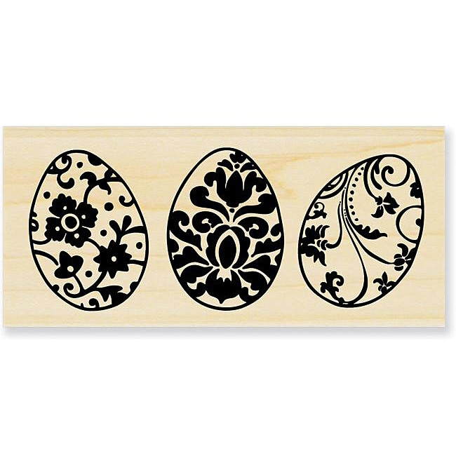 Stampendous 'Egg Trio' Rubber Wood Stamp