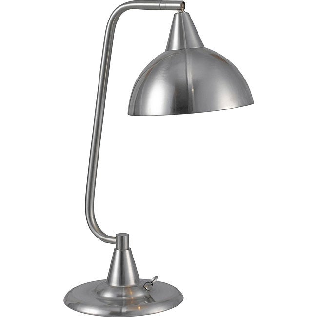 Kenroy Hartfield 20-inch Brushed Steel Desk Lamp