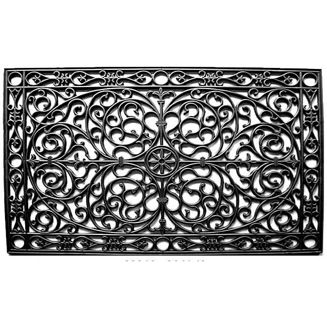 Renaissance Rectangle Rubber Door Mat 30x48 Free