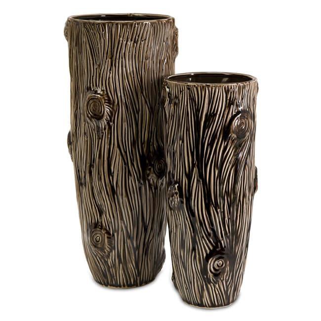 Ceramic Regent Tree Trunk Vases Set Of 2 Free Shipping