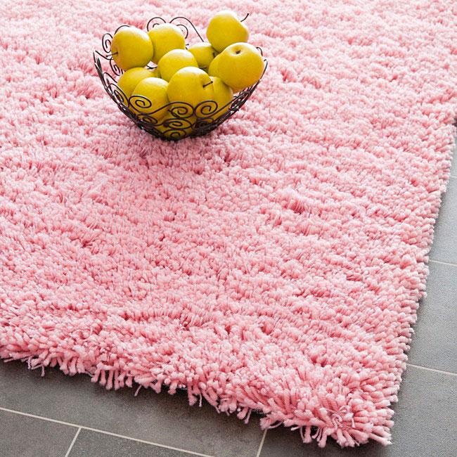 Shop Safavieh Classic Ultra Handmade Pink Shag Rug