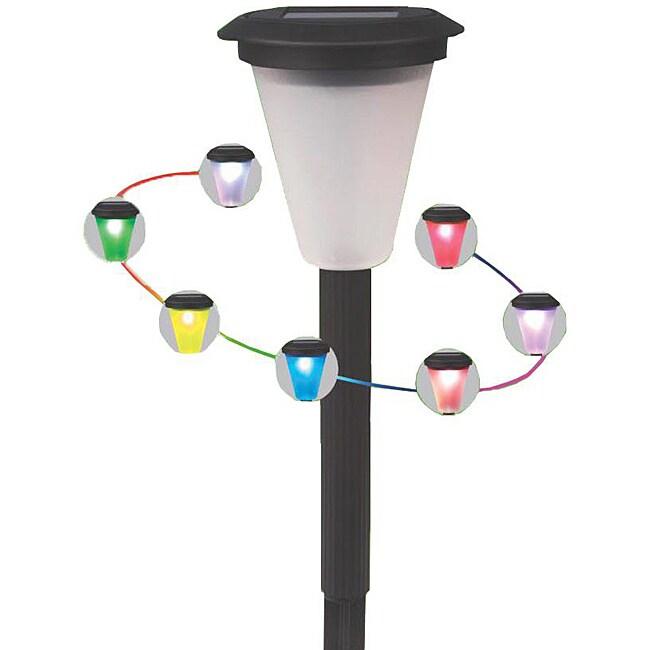 Pc Color Changing Solar Lights Set: Color-changing Solar Landscape Lights (Set Of 20)