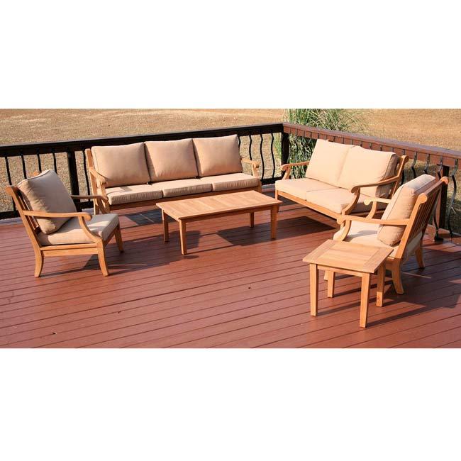 Savannah Outdoor 7-piece Grade A Teak Patio Furniture Set