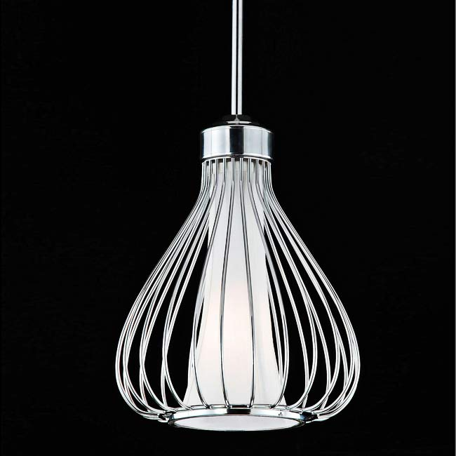Kisses Chrome Off White Pendant Chandelier Free