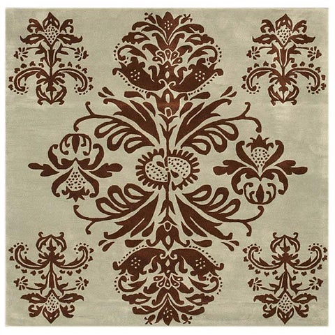 Hand-tufted Tomthy Green Wool Rug - 6' Square