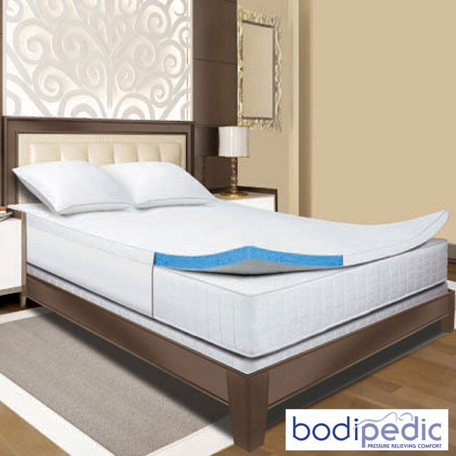 800034753ed3d Shop Bodipedic 2-inch Gel Memory Foam Queen  King  Cal King-size Mattress  Topper - Free Shipping Today - Overstock.com - 5657286