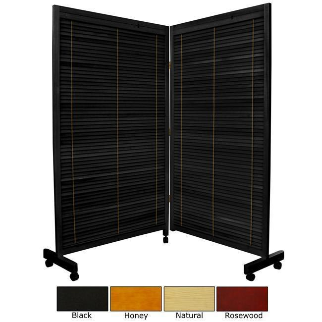 Wooden 5-foot 2-panel Shutter Folding Room Divider (China)