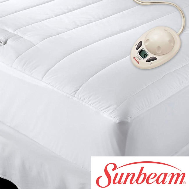 sunbeam heated quilted mattress pad
