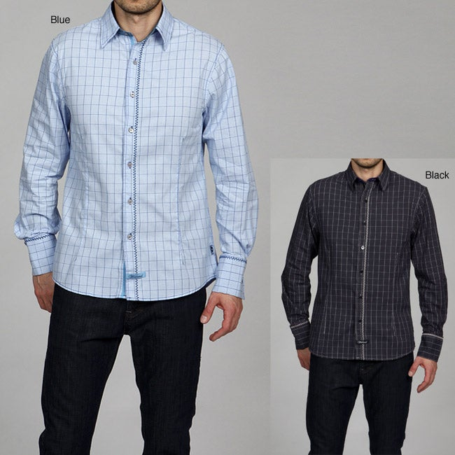 English Laundry Men's Wickersly Woven Shirt