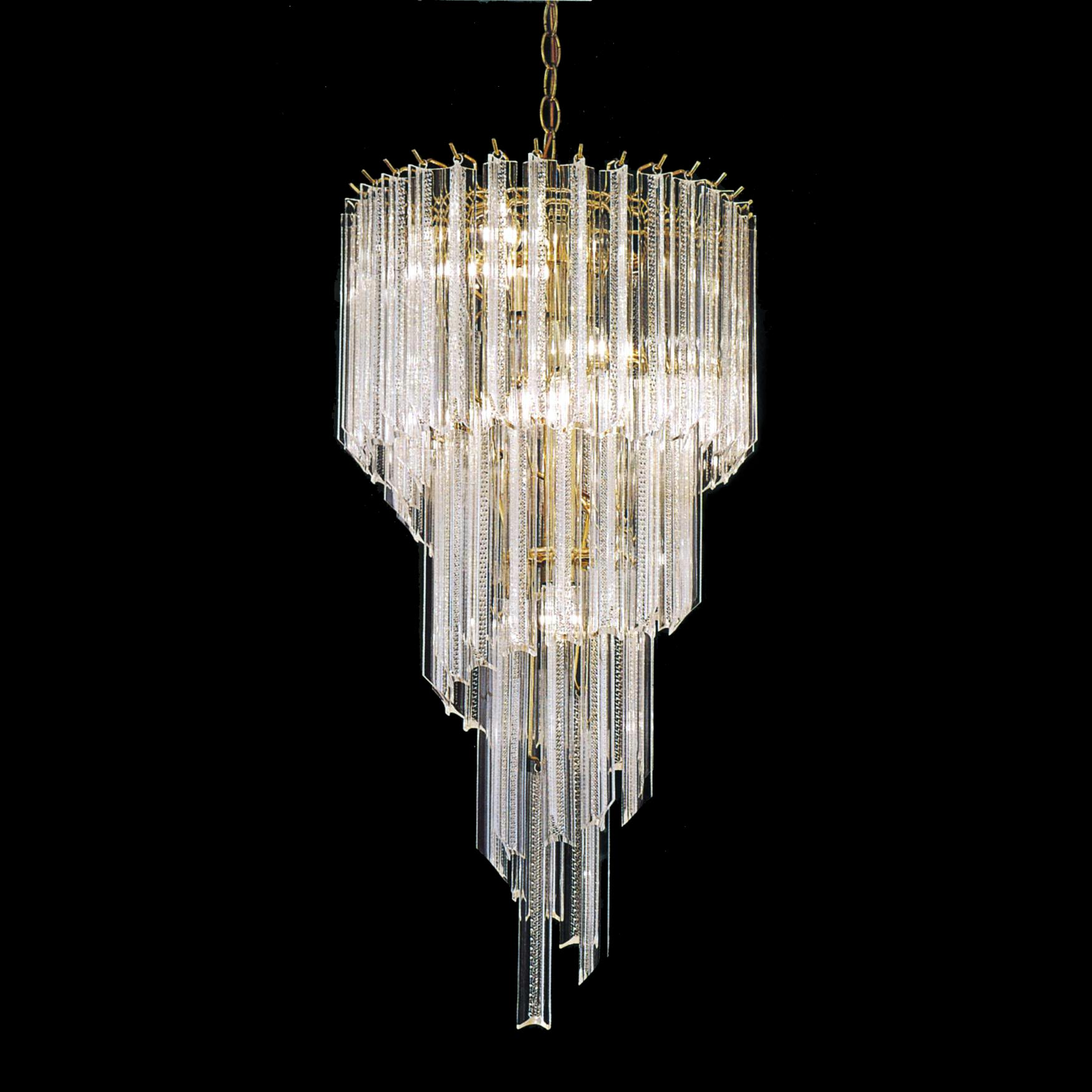 Acrylic 5 light Polished Brass Spiral Chandelier Free  : L13411223 from www.overstock.com size 1750 x 1750 jpeg 119kB