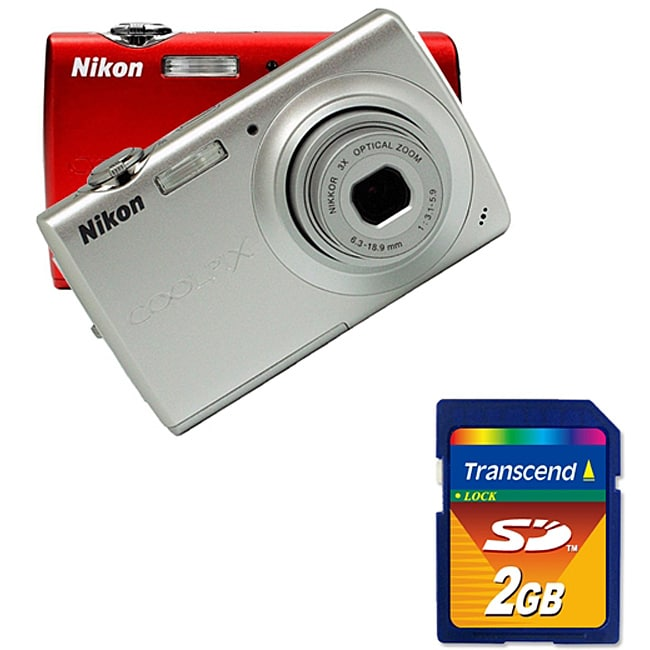 Nikon Coolpix S203 10MP Digital Camera with 2GB SD Memory Card (Refurbished) - Thumbnail 0