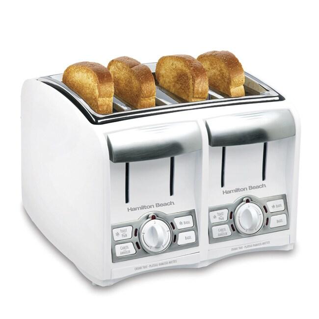 Hamilton Beach Classic Chrome 4 Slice Toaster: Hamilton Beach 4-slice Cool Touch Toaster