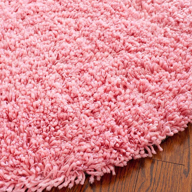 Safavieh Classic Ultra Handmade Pink Shag Rug (6u0027 Round)