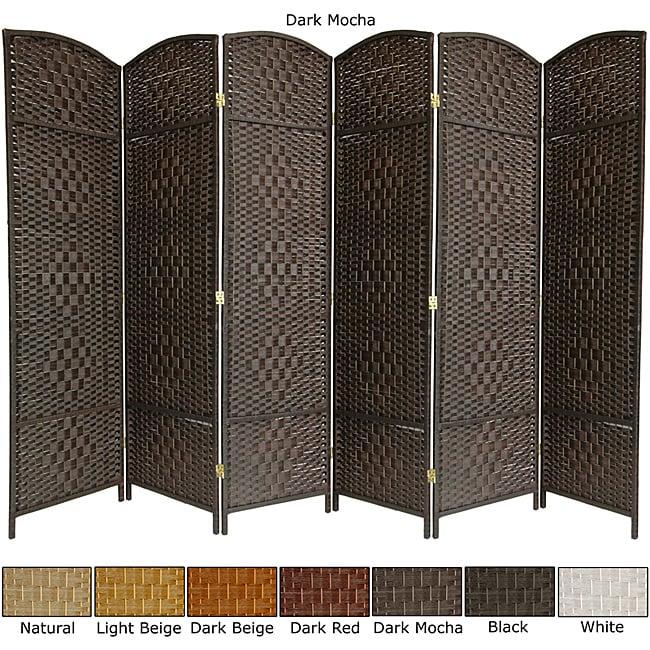 Wood and Fiber Weave 5.5-foot Triple Diamond Room Divider (China)