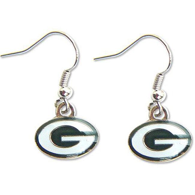Green Bay Packers Dangle Logo Earring Set
