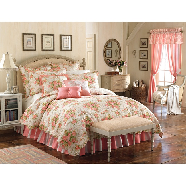 Mary Jane Farm Vintage Romance King Size 2 Piece Quilt And