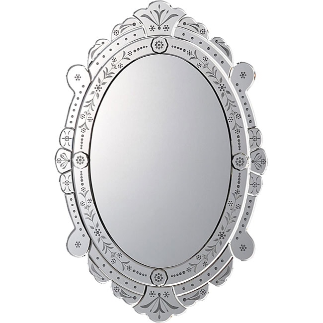 venetian high oval wall mirror