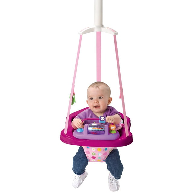 Evenflo Jump & Go Doorway Jumper in Pink Tea - Thumbnail 0