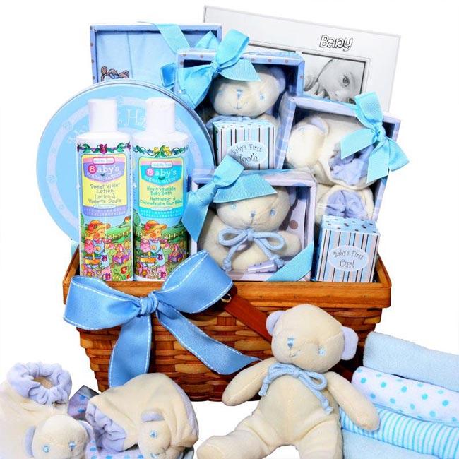 Boy's Large Baby Gift Basket