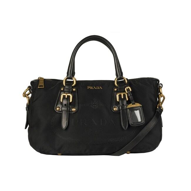 184dba895b05 ... where can i buy prada bn2002 black nylon tote bag 7776b 635cf