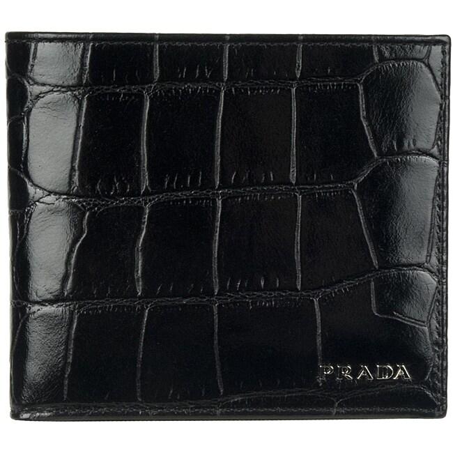 Prada 2M0513 Leather Bi-fold Wallet