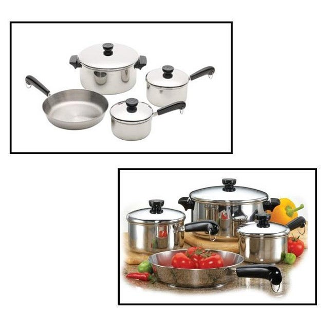 Revere 7-piece 18/10 Stainless Steel Tri-ply Bottom Cookware Set